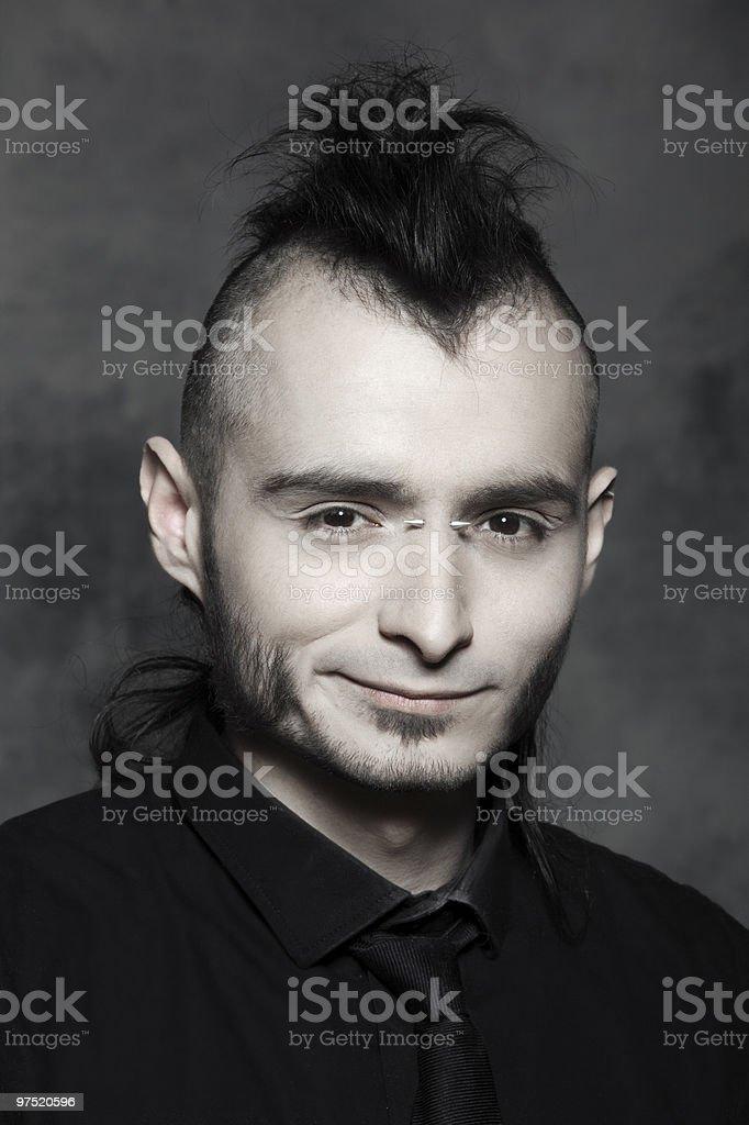 smiling man punk portrait royalty-free stock photo