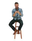 Smiling man using phonehttp://www.twodozendesign.info/i/1.png