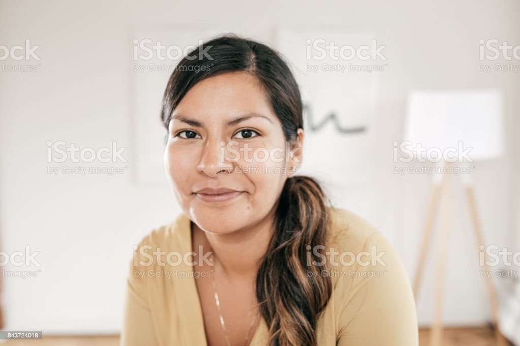 Smiling manager stock photo