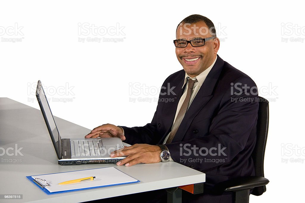 smiling mature businessman royalty-free stock photo