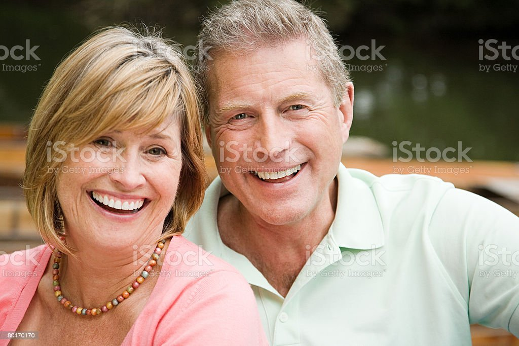 A smiling mature couple royalty-free stock photo