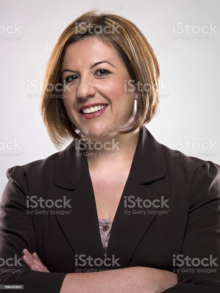 Smiling Mature Hispanic Female Executive (real people) royalty-free stock photo