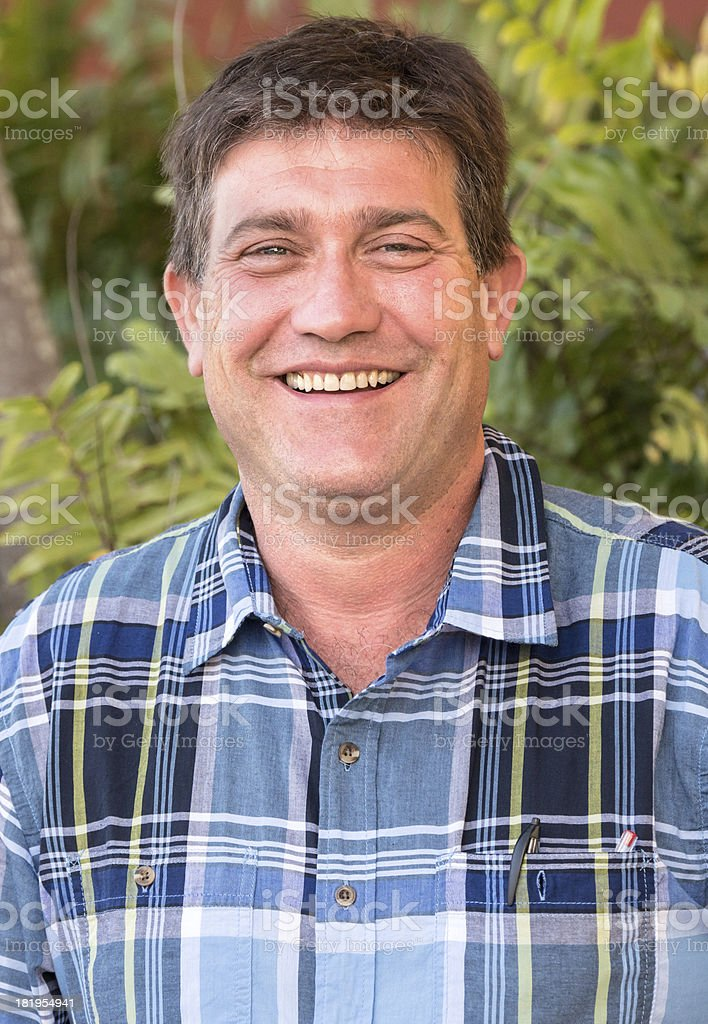 Smiling mature man royalty-free stock photo