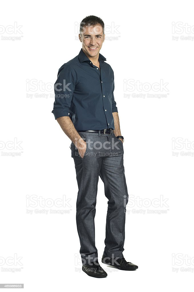 Smiling Mature Man stock photo