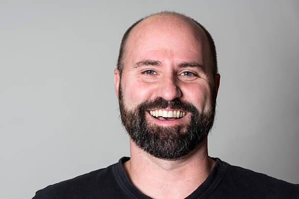 Mann Glatze Bart - Bilder und Stockfotos - iStock