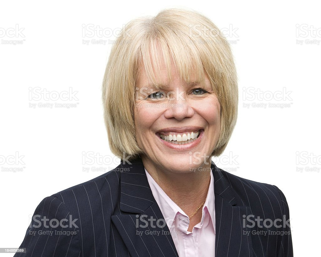 Smiling Mature Woman Headshot royalty-free stock photo