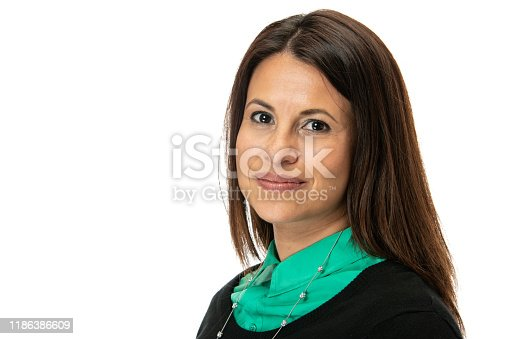 1132314350 istock photo Smiling mature woman looking at the camera 1186386609