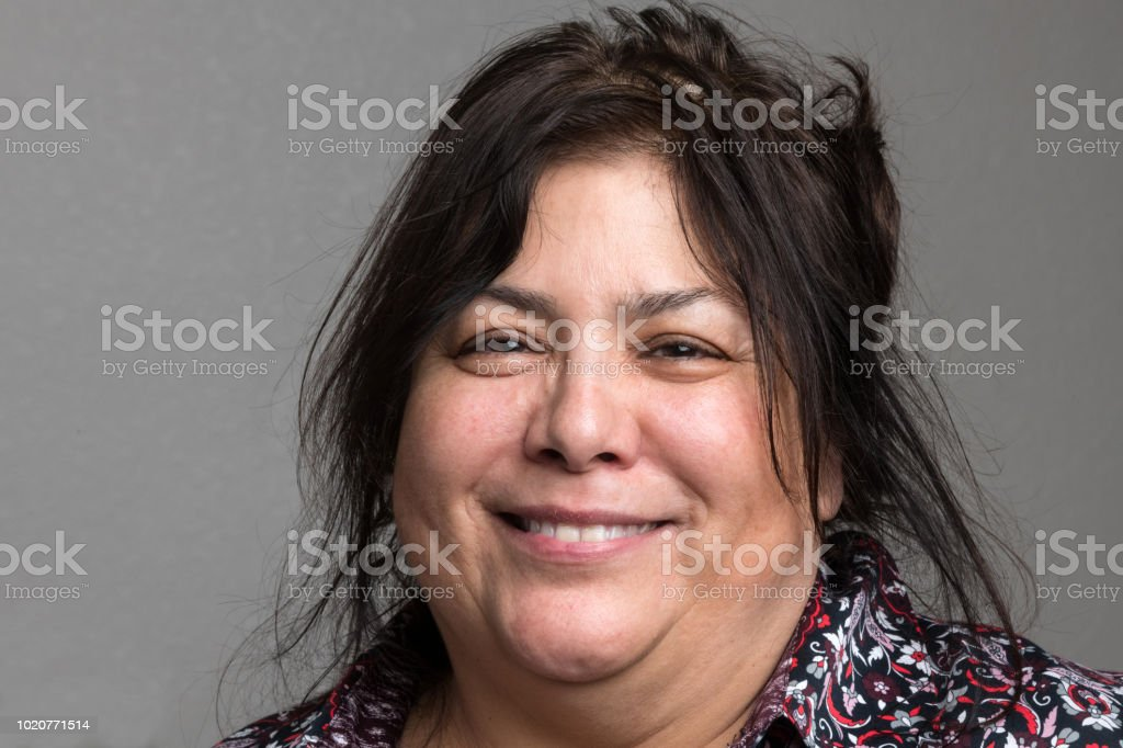 Smiling Mature/senior woman stock photo