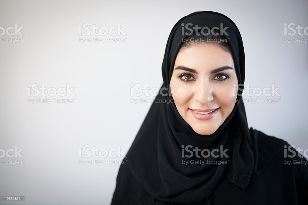 Smiling Middle Eastern Woman Portrait stok fotoğrafı