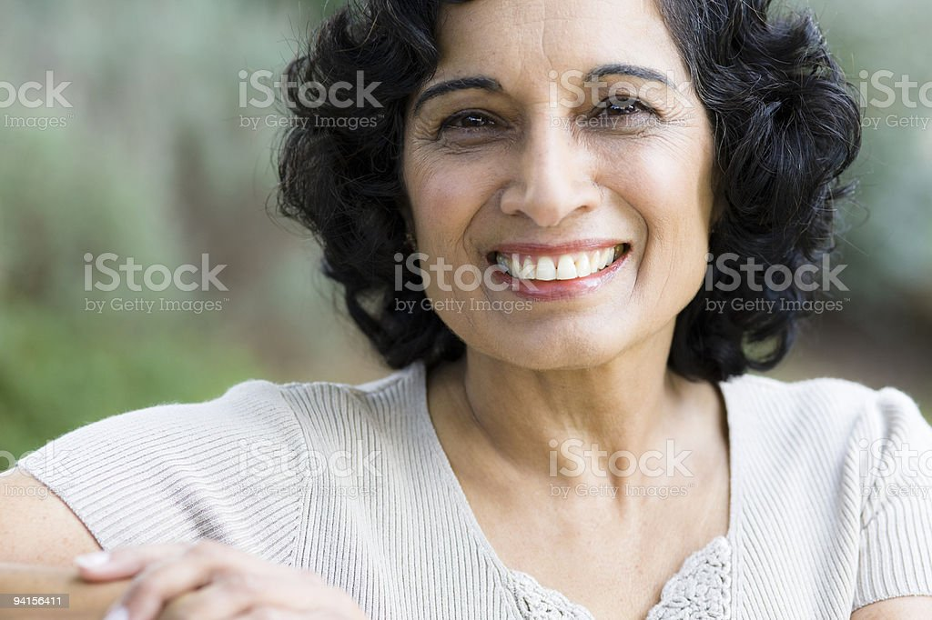 Smiling Middle-Age Woman royalty-free stock photo