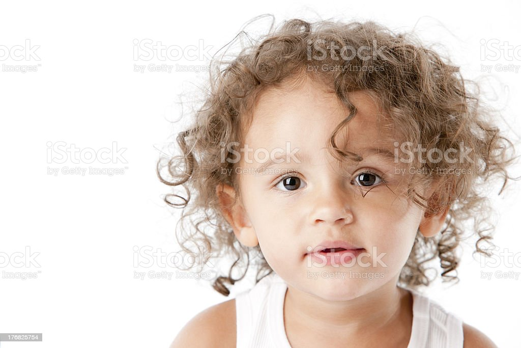 Smiling Mixed Race Toddler Girl royalty-free stock photo