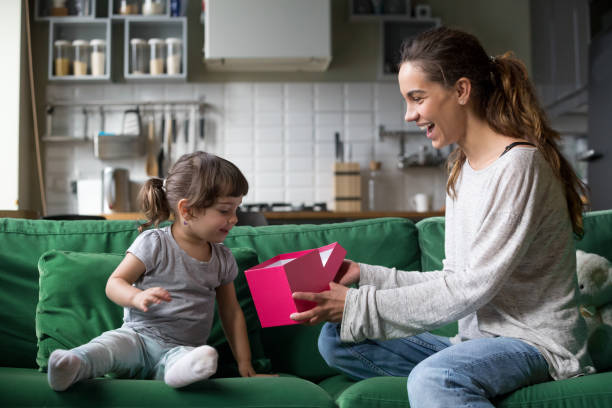 Smiling mom giving excited kid open gift box with present picture id1028379222?b=1&k=6&m=1028379222&s=612x612&w=0&h=675cq1dqm6m7aqmbi0puyvdy5elrpx4slprxr96re2g=