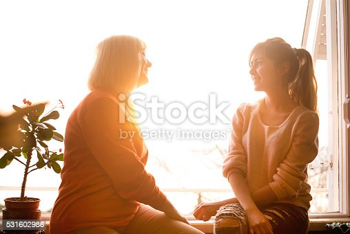 istock Smiling mother with young daughter 531602986
