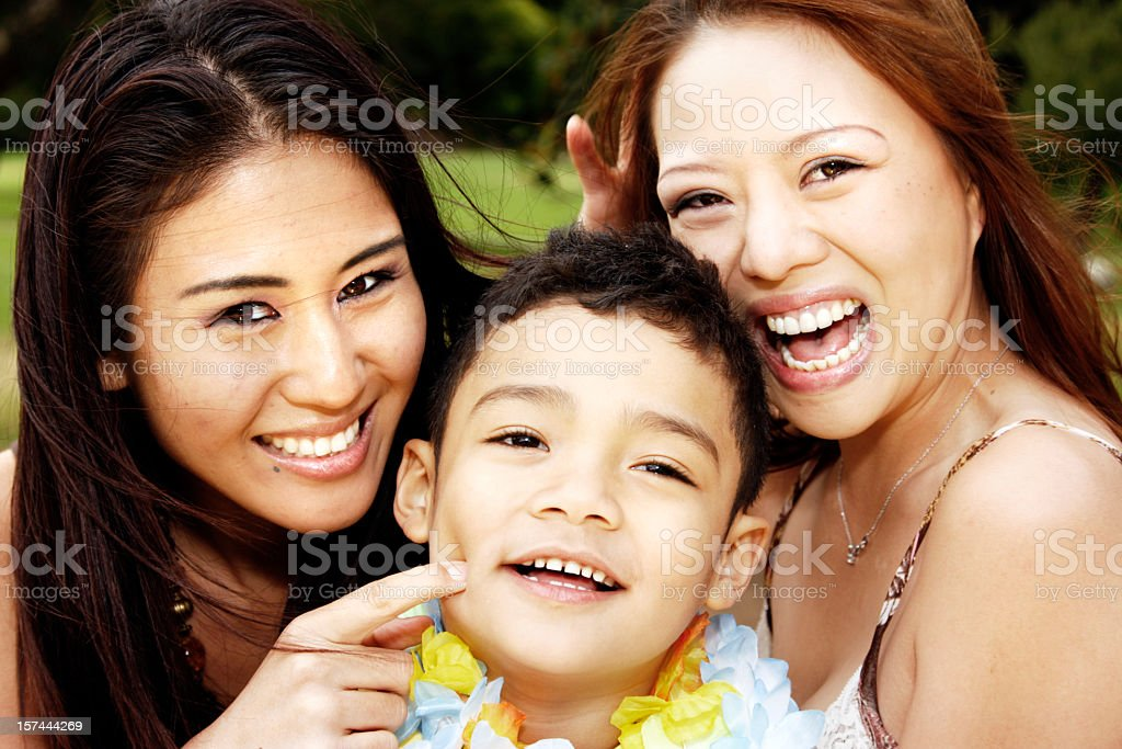 Smiling Multiehtnic Group stock photo