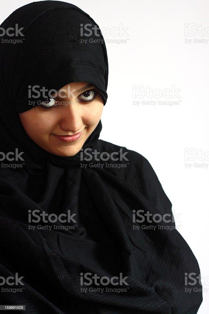 Smiling Muslim Girl royalty-free stock photo