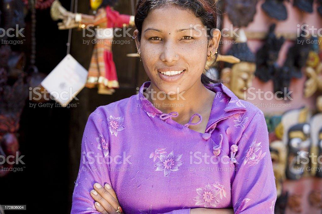 Smiling Nepal royalty-free stock photo