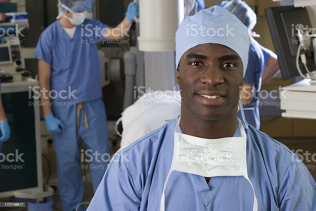 Smiling Nurse in Operating Room stock photo
