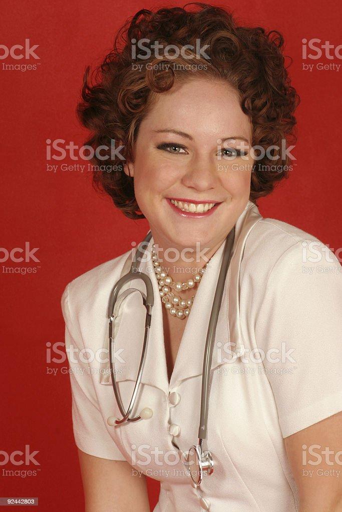 Smiling nurse stock photo