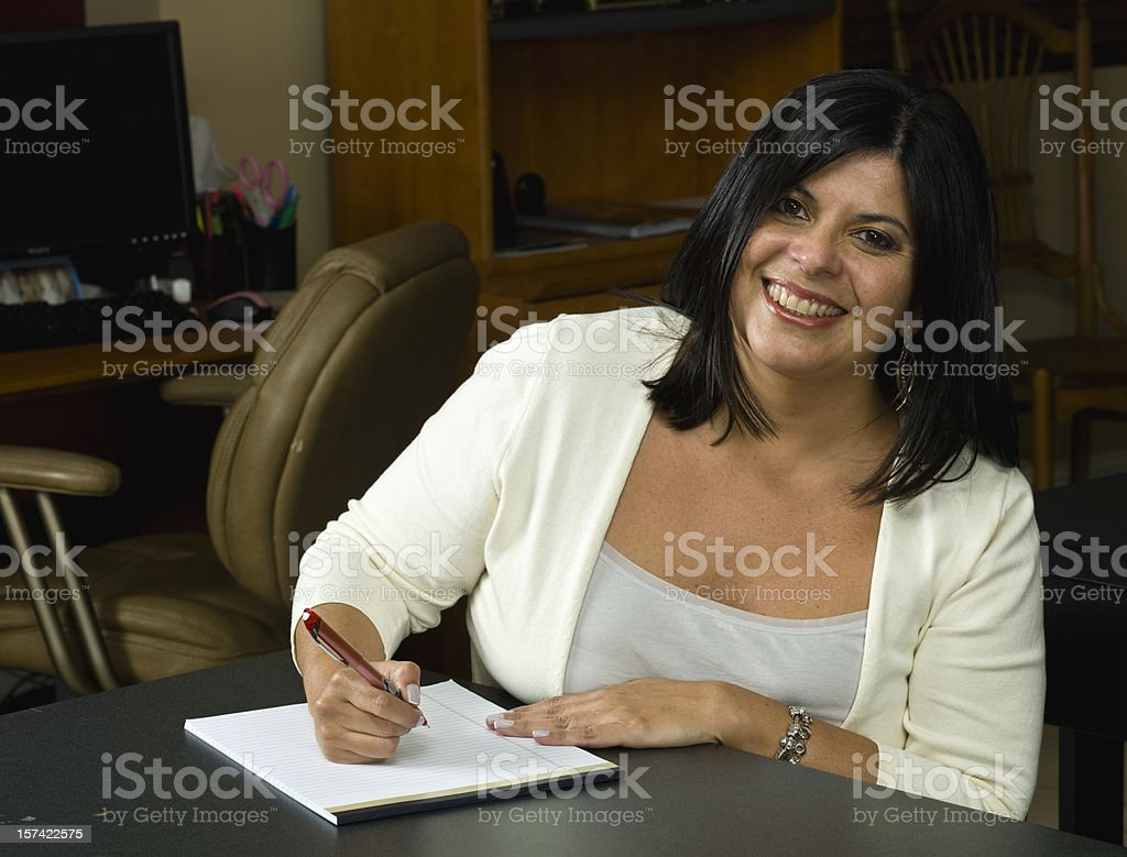 Smiling Office Clerk royalty-free stock photo