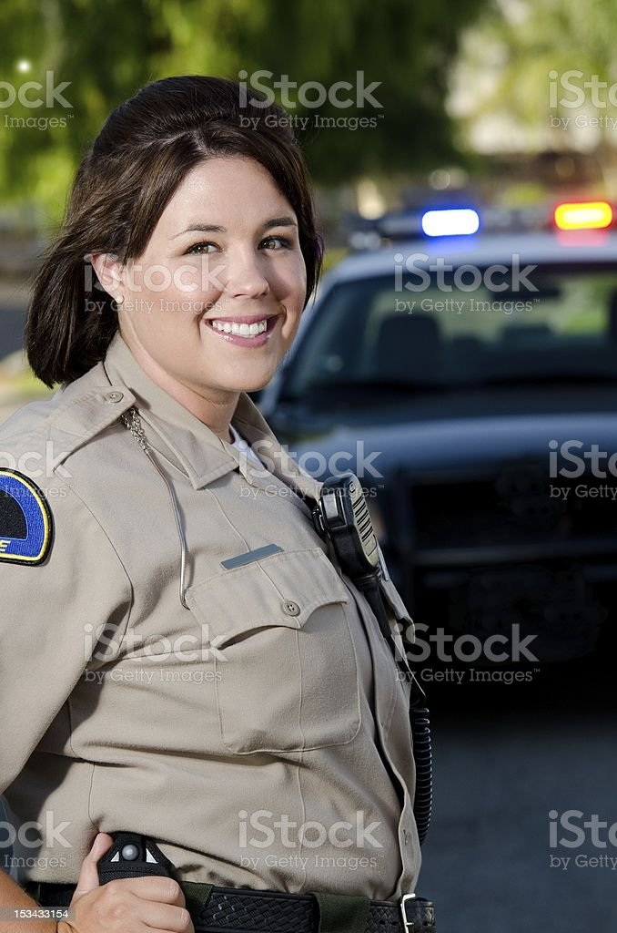 smiling officer royalty-free stock photo