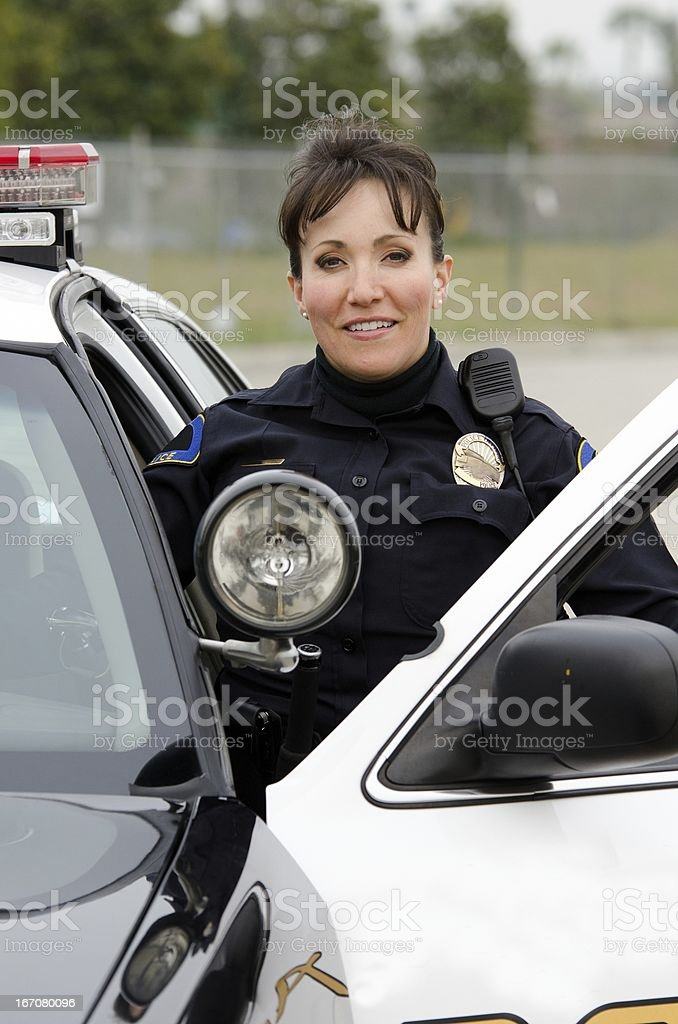 smiling officer stock photo
