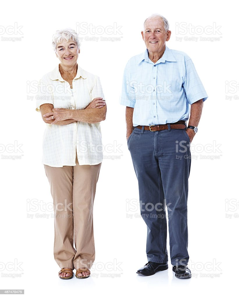 Couple At The Beach Stock Image Image Of Caucasian: Smiling Older Couple On White Background Stock Photo