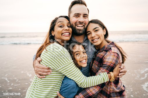 istock Smiling parents with two children 1082467846