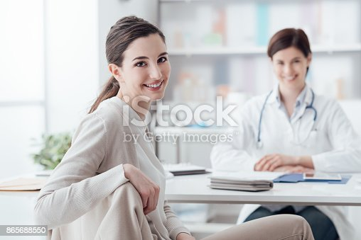 istock Smiling patient in the GP's office 865688550