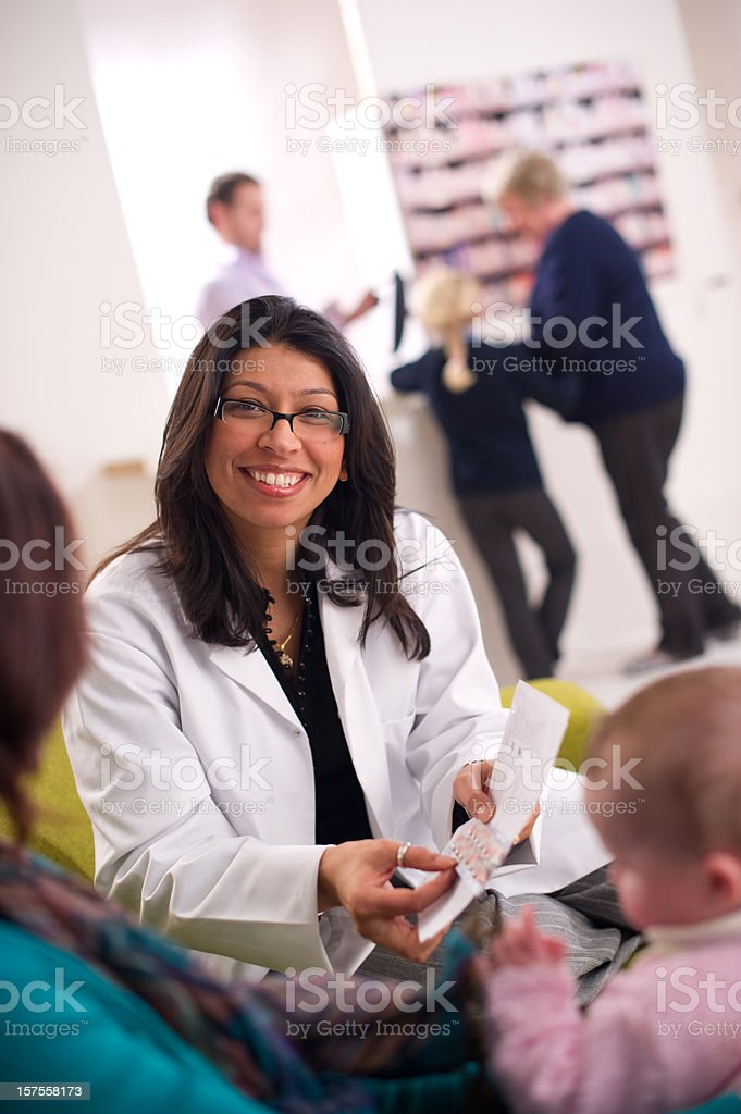 smiling pharmacist royalty-free stock photo