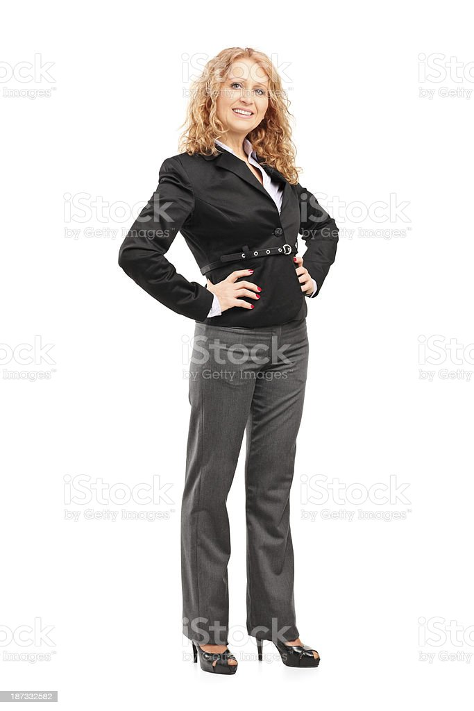 Smiling professional woman posing stock photo
