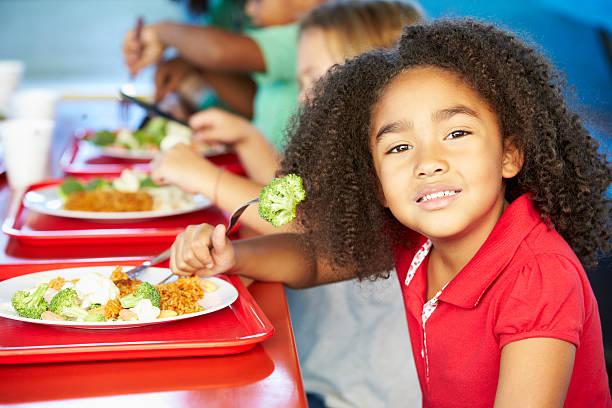 Smiling public school girl eating healthy vegetable lunch picture id178470554?b=1&k=6&m=178470554&s=612x612&w=0&h=3fu8k ffjzk47gdmoaddabvk1hvdyeiusy2ko37owyi=