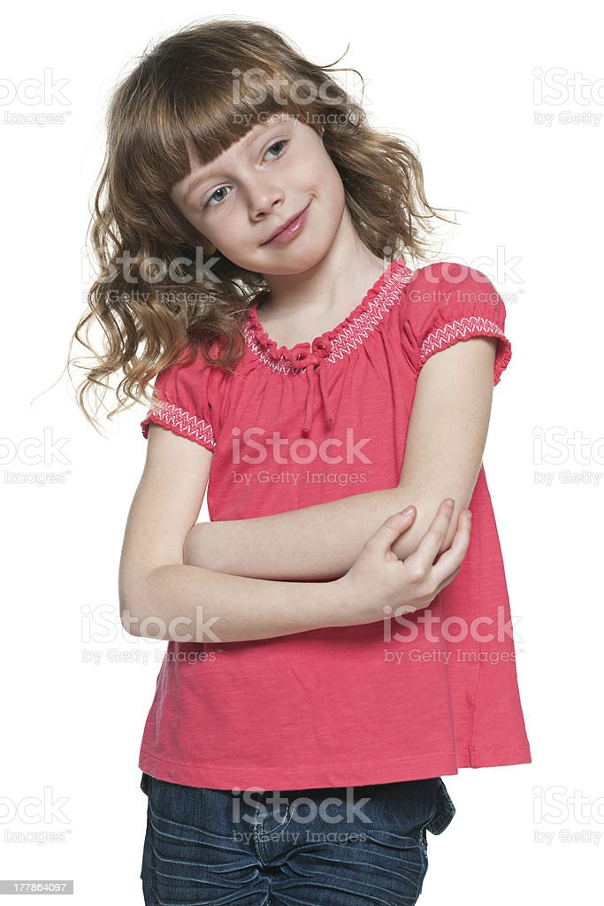 Smiling red-haired girl royalty-free stock photo