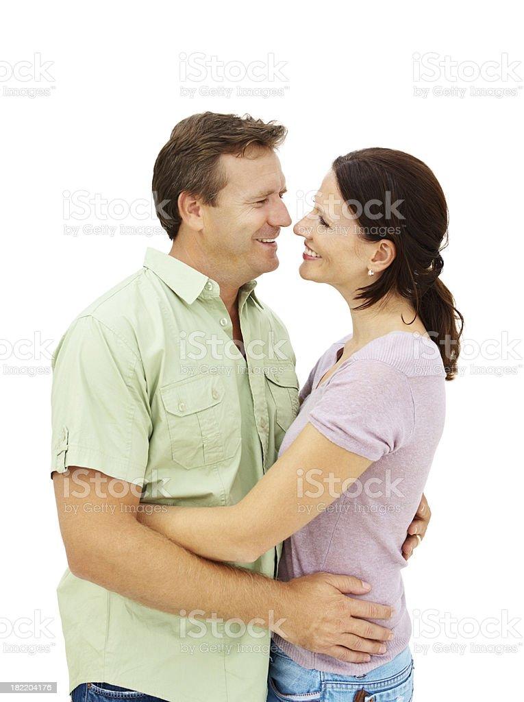 Smiling romantic mature couple royalty-free stock photo