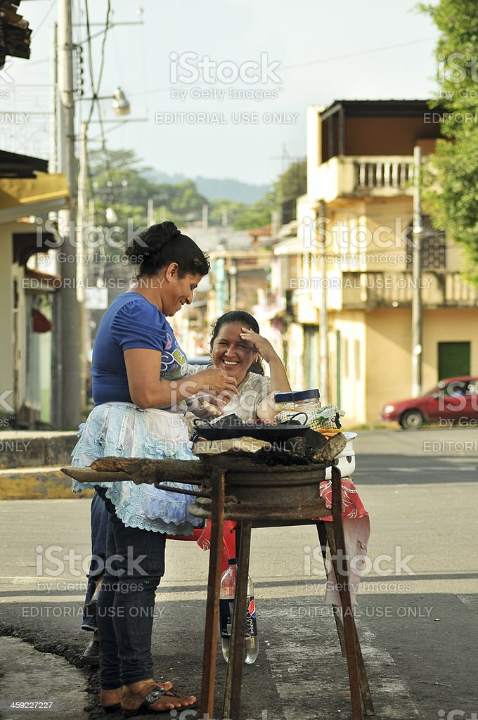 Smiling salvadorans royalty-free stock photo