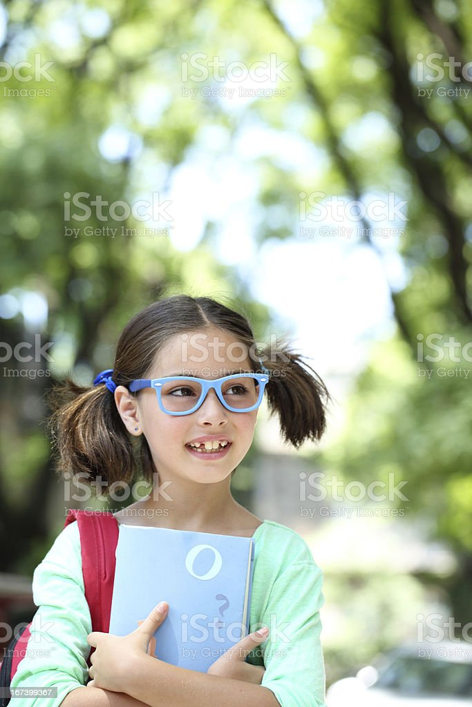 Smiling schoolgirl royalty-free stock photo