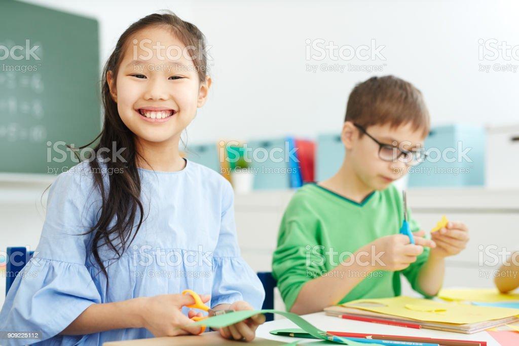Lächeln schoolkid – Foto