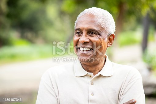 A portrait of a senior black man