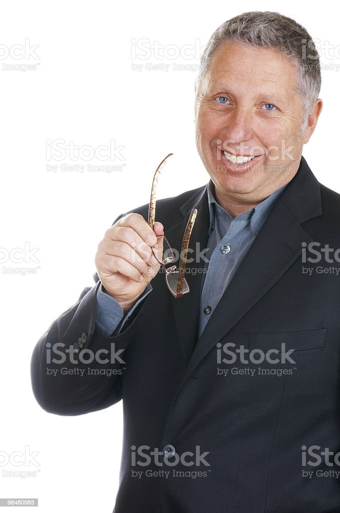 Smiling Senior Businessman royalty-free stock photo