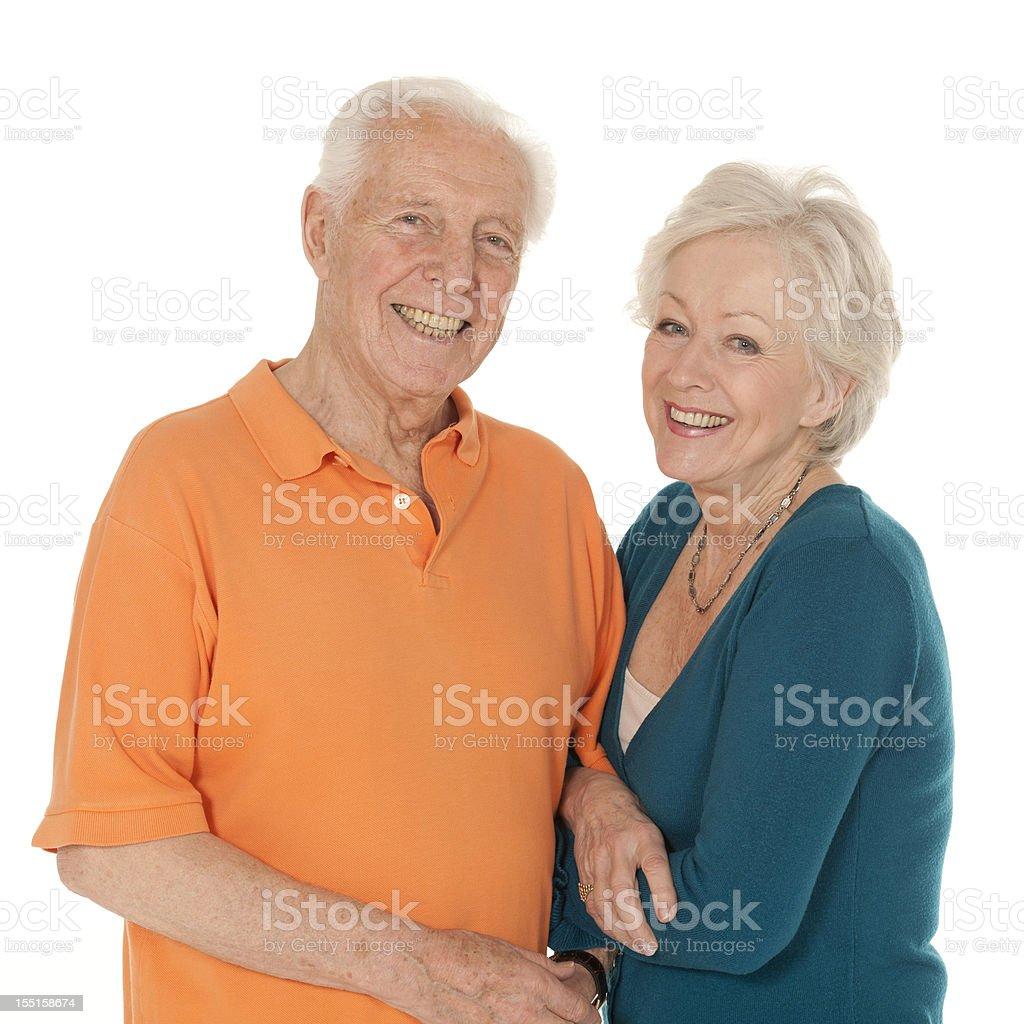 Smiling Senior Caucasian Couple royalty-free stock photo