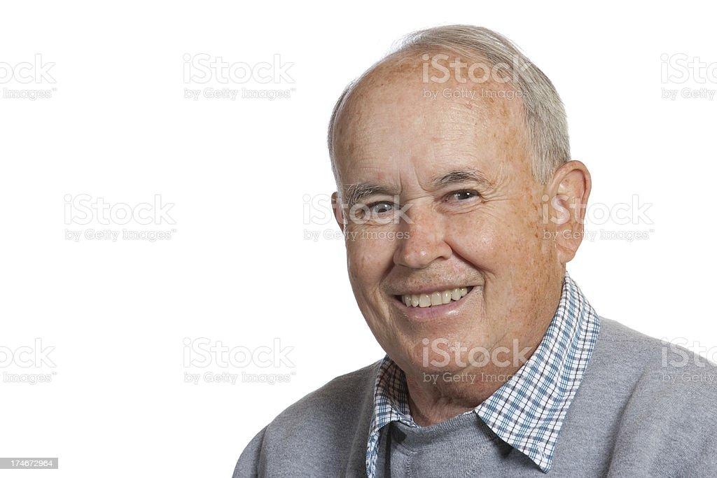 Smiling Senior Citizen royalty-free stock photo