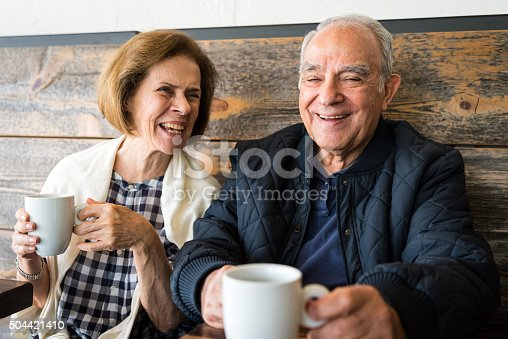 istock Smiling Senior Couple 504421410