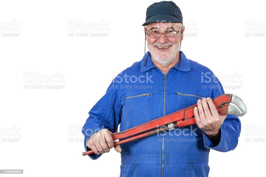Smiling senior craftsman - Royalty-free Active Seniors Stock Photo