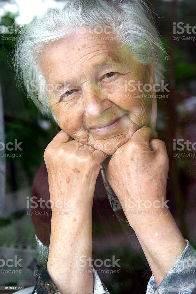 Smiling senior lady royalty-free stock photo
