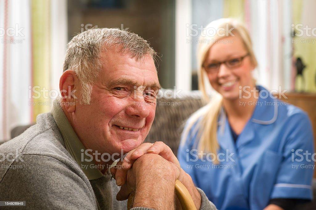 Smiling senior man royalty-free stock photo