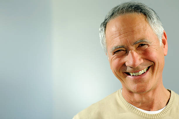 smiling senior man - 60 69 years stock photos and pictures