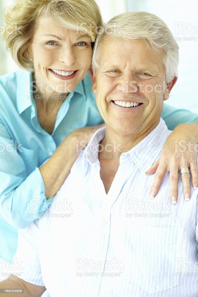 Smiling senior man with his wife spending time together royalty-free stock photo