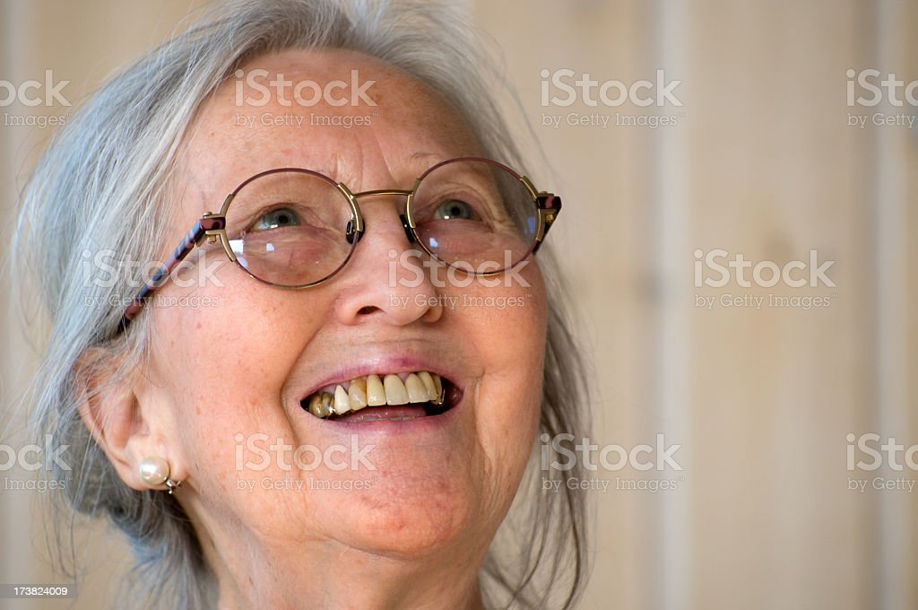 Smiling senior woman. stock photo
