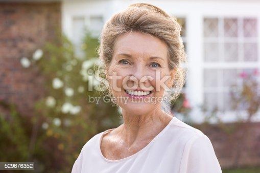 istock Smiling senior woman 529676352