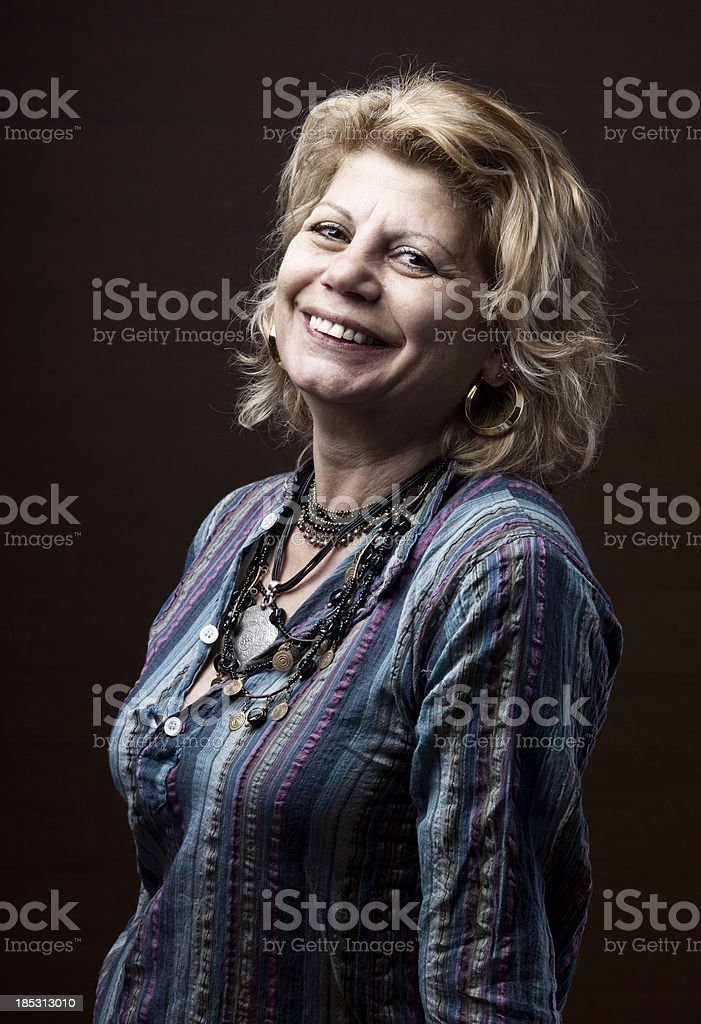 Smiling senior woman portrait royalty-free stock photo