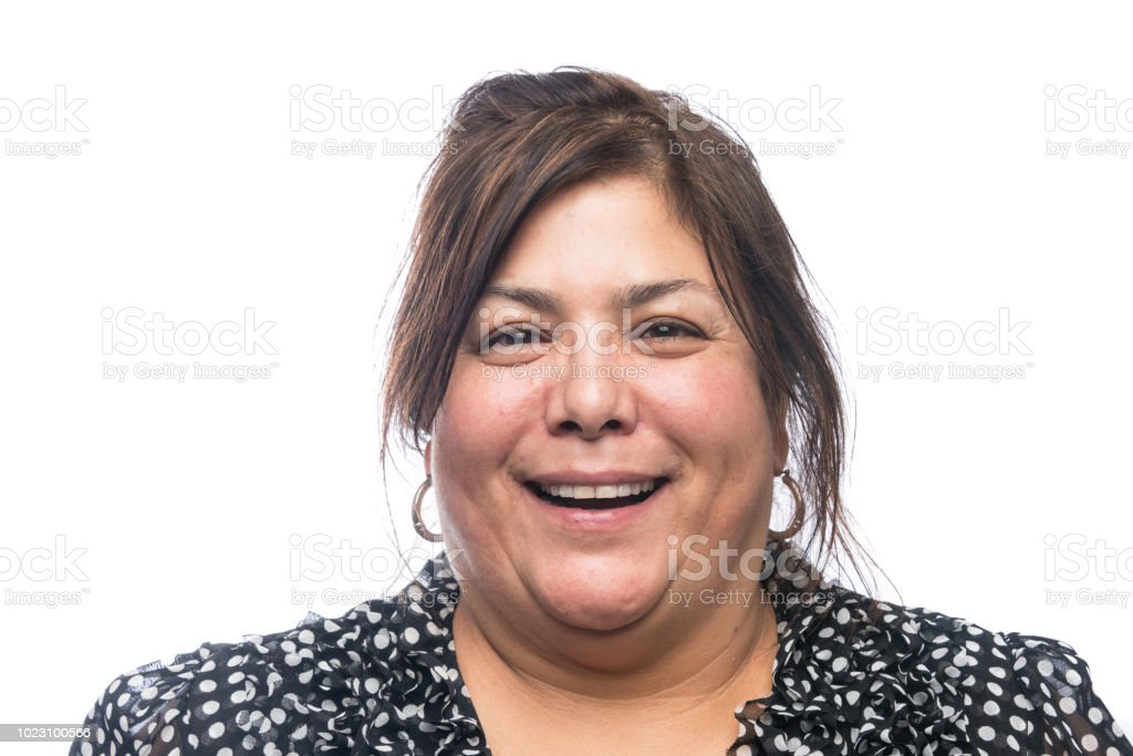 Smiling senior/mature woman stock photo